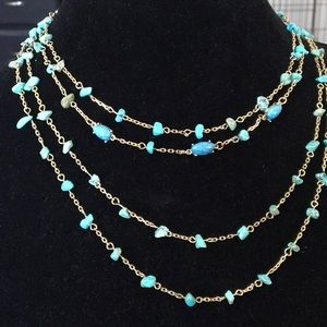 BaubleBar torquoise Layered Necklace